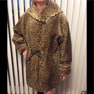 🎉H🎊P 🎉VTG. 90s Faux Fur Coat